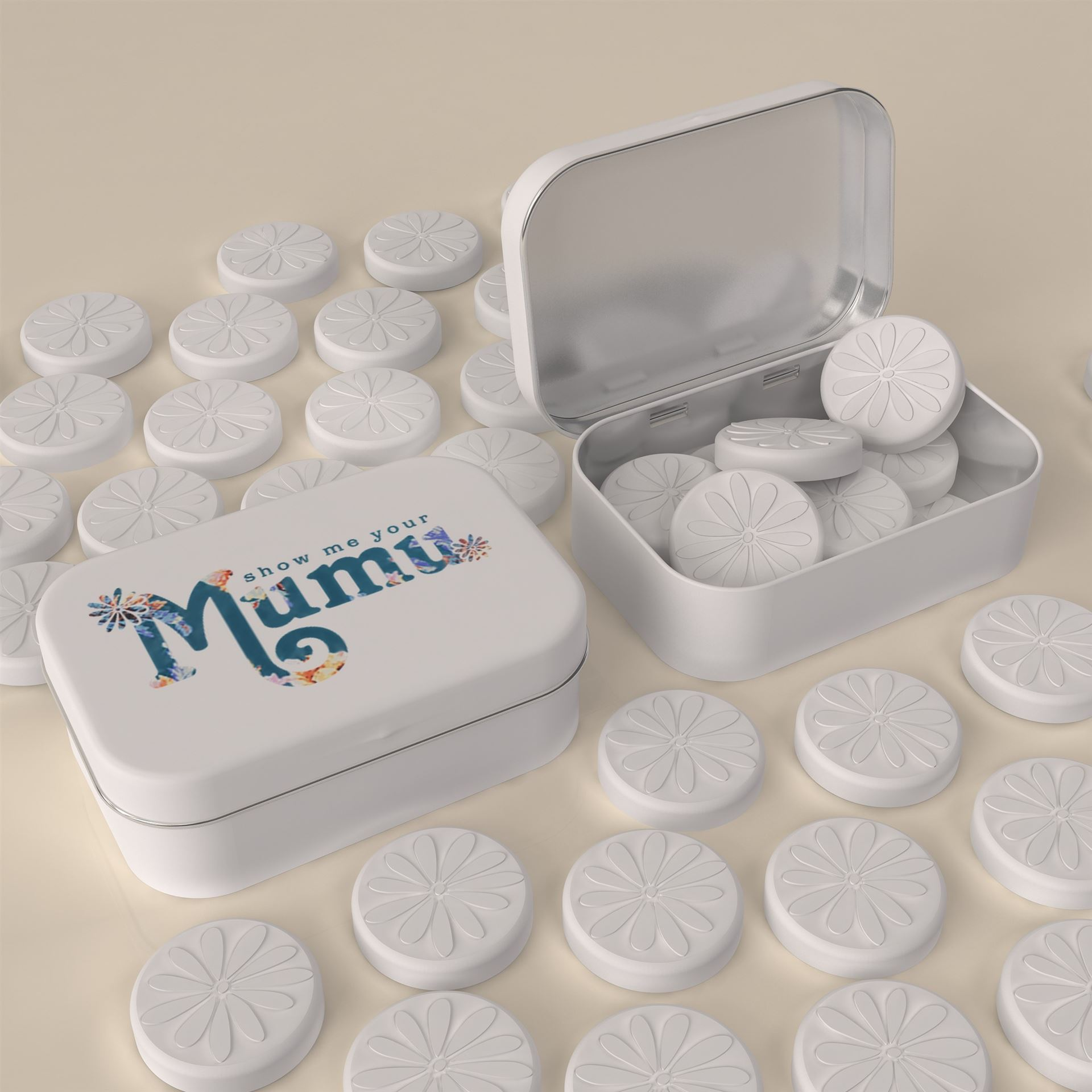 WORLD PREMIERE - LOGO SHAPED & EMBOSSED MINTS - FREE EU SHIPPING